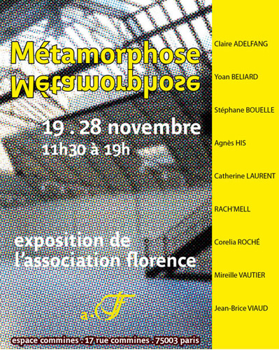 Exposition Association Florence  l&#039;Espace Commines, novembre 2010